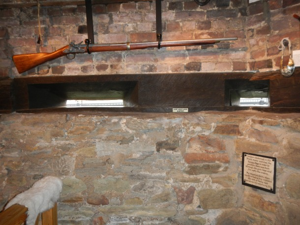 Artifacts inside the Blockhouse