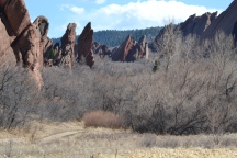 Hiking in Colorado in the Red Rocks at Roxborough State Park