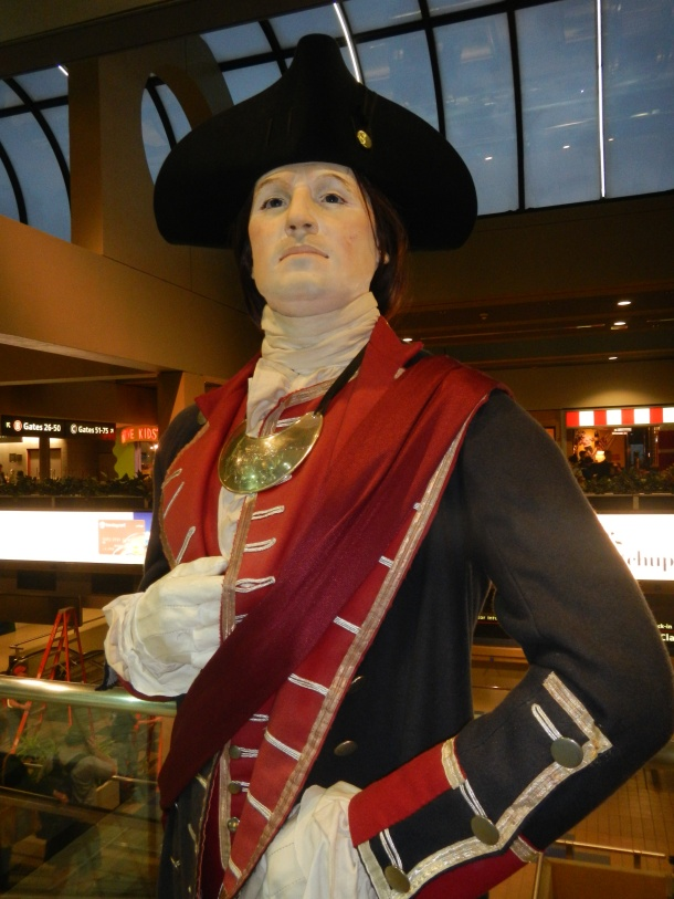 George Washington at the Pittsburgh Airport