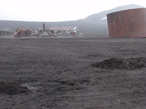 Exploring Deception Island's old whaling station