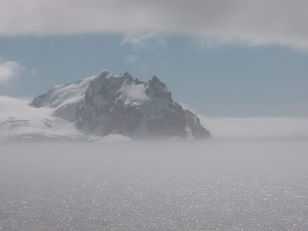 The first sight of land along the Antarctica peninsula!