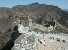 The amazing view atop the Great Wall of China at Simatai