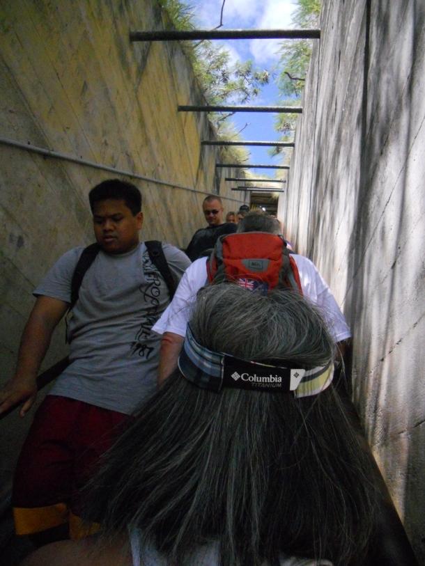 Hawaii Oahu Diamond Head Stairs