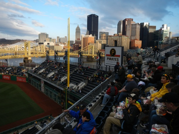 The beautiful view from PNC Park, home of the Pittsburgh Pirates
