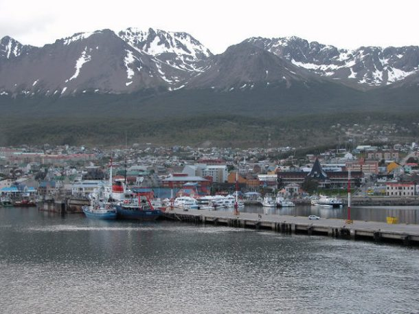 Setting sail from Ushuaia, Argentina