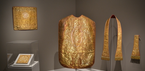Golden church vestments