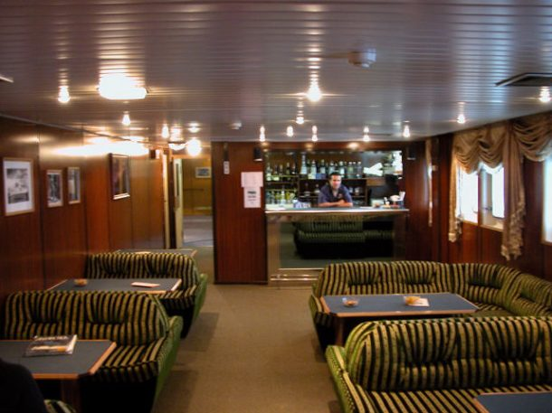 In the ship's bar