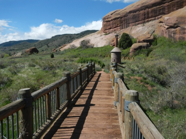Hiking at Red Rocks Colorado Bridge