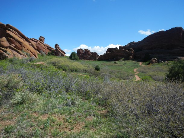 Hiking at Red Rocks Colorado Scenery