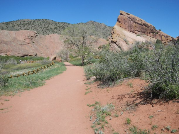 Hiking at Red Rocks Colorado Trail
