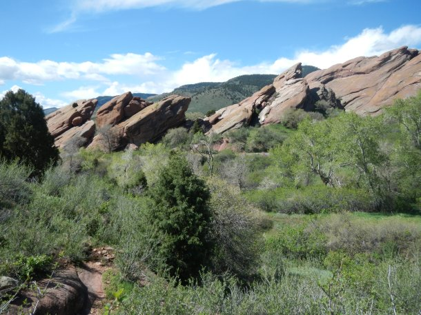 Hiking at Red Rocks Colorado View