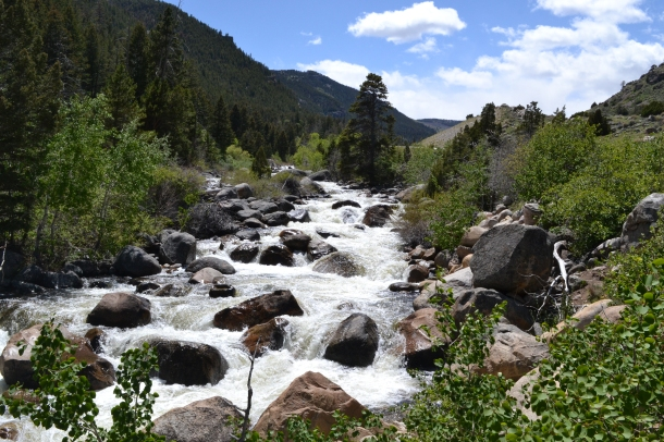 Hiking in Wyoming's Sinks Canyon State Park Pop Agie River