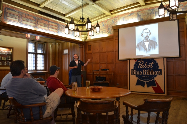 Learning about beer at Milwaukee's Best Place