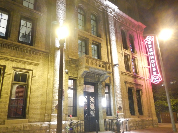 Milwaukee's Brewhouse Inn & Suites at night