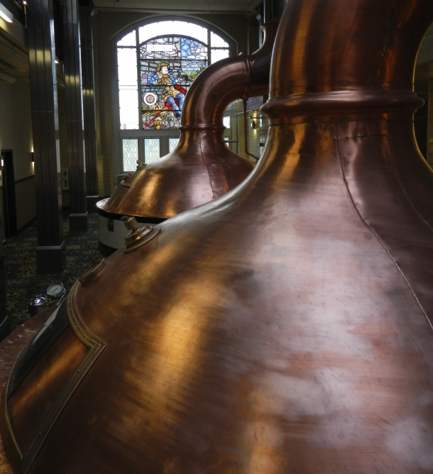 The old Pabst Brewery copper kettles