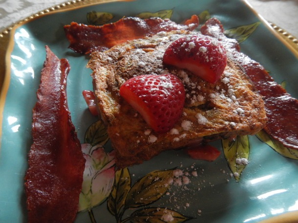 The amazing strawberry French toast at the Brumder Mansion