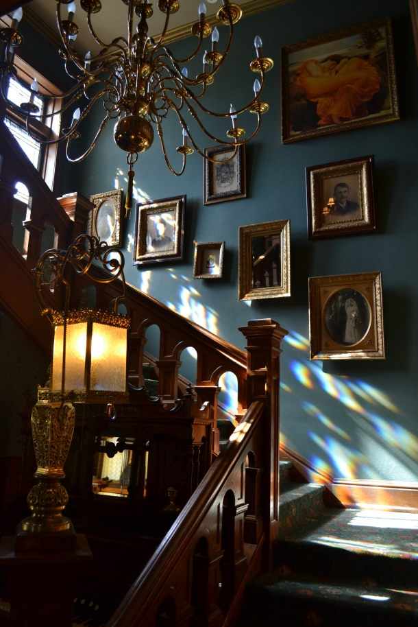 The Brumder Mansion's grand staircase