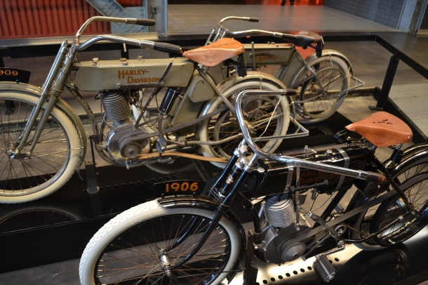 Some of the oldest motorcycles in the museum