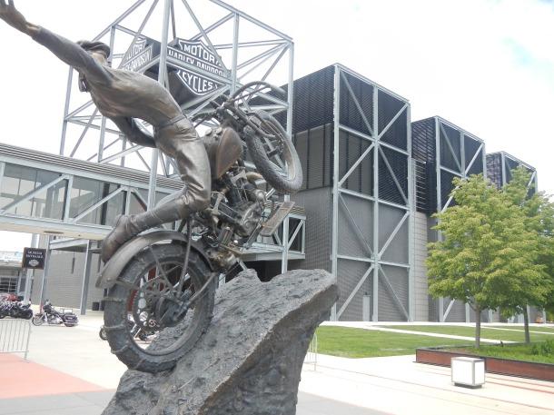 Outside Milwaukee's Harley-Davidson Museum
