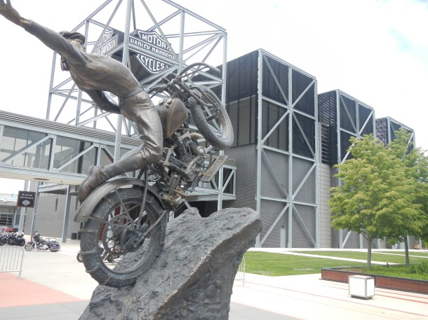 Outside Milwaukee's Harley-Davidson Museum