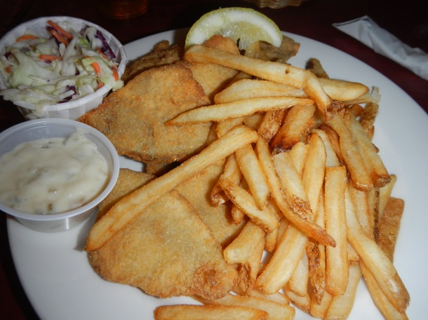 Traditional fish fry at the Lakefront Brewery