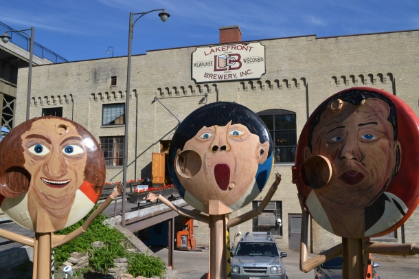 Even on the outside Milwaukee's Lakefront Brewery is fun