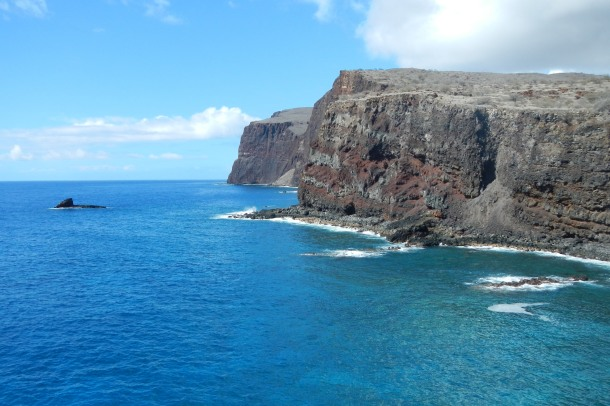The incredible view from Lanai's Kaunolu Village