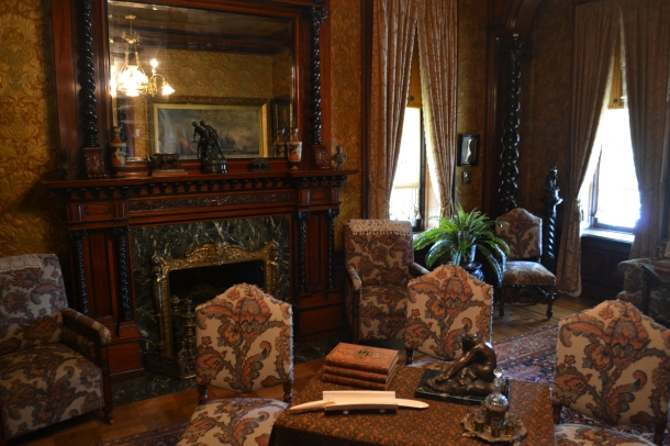 The main sitting room in the Pabst Mansion