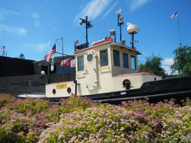 A tugboat in Canal Park