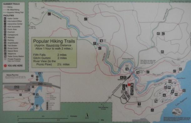 Gooseberry Falls Sate Park map