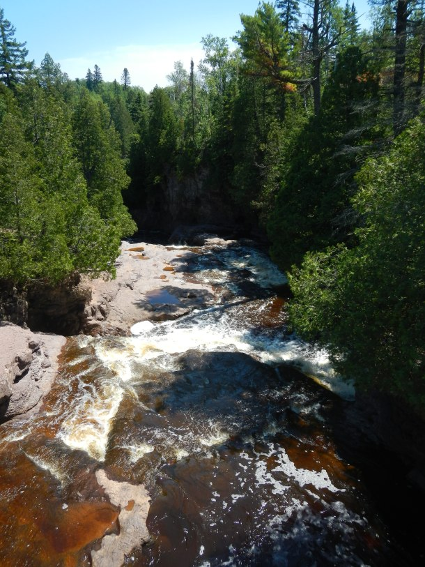 Crossing over the Fifth Falls