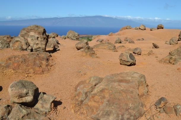 Lanai Hawaii Garden of the Gods Molokai View