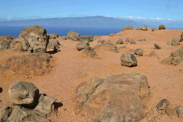 Lanai Hawaii Garden of the Gods Molokai View