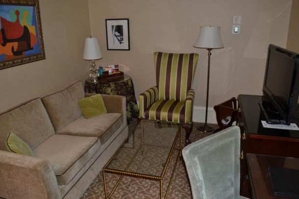 Suite room sitting area