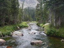 The creek leading from Ouzel Lake