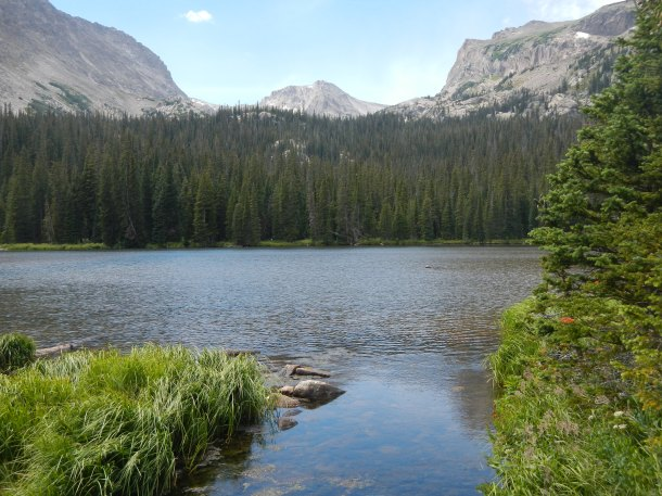 Ouzel Lake in Colorado's Rocky Mountain National Park