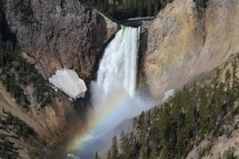 A rainbow at the Grand Canyon of the Yellowstone