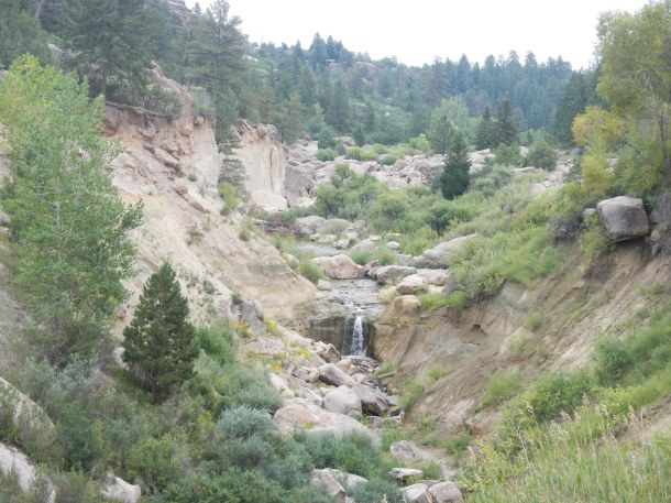 Castlewood Canyon's falls area