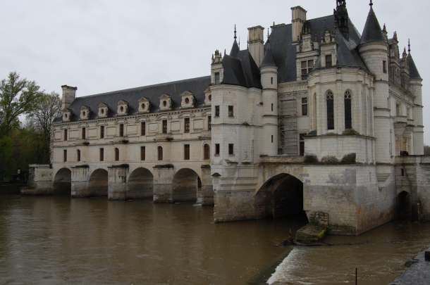 Outside the Chateau de Chenonceau