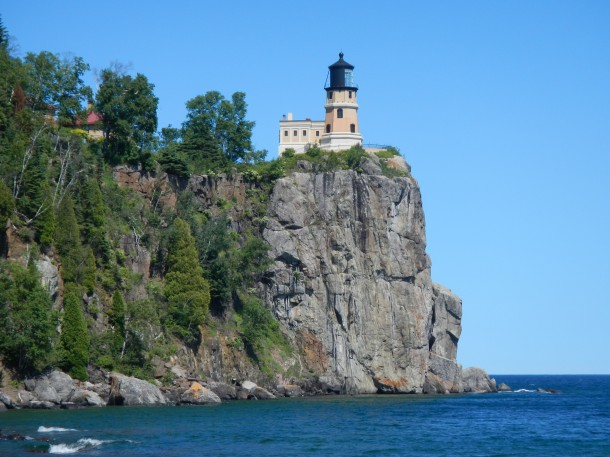 The iconic Split Rock Lighthouse along Lake Superior's North Shore in Minnesota