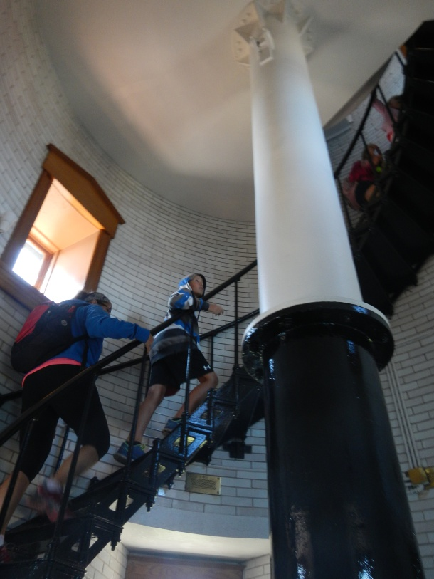 Climbing up in the lighthouse