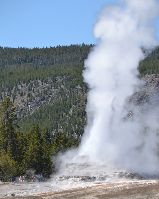 Castle Geyser generally erupts twice per day