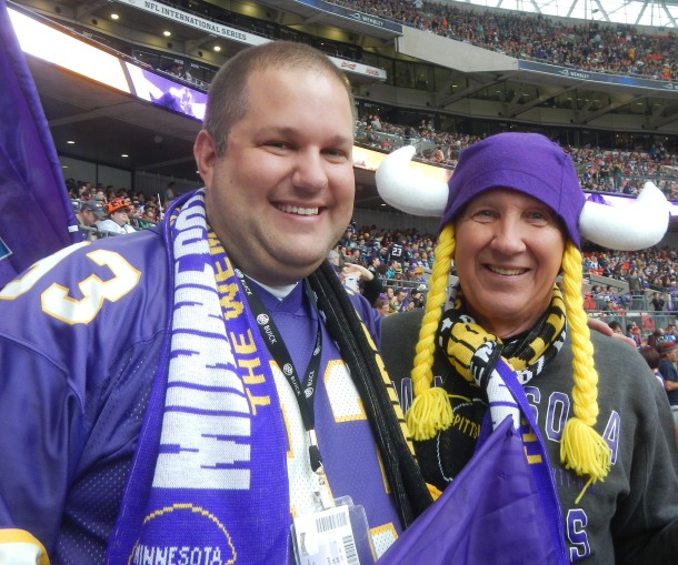 Dad and I ready for kickoff!