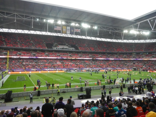 Our first look from our seats in Wembley