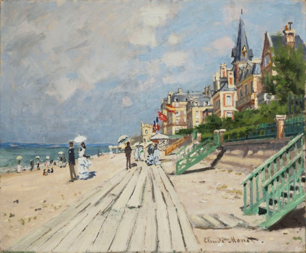 Monet's Beach at Trouville is the first work on display in Passport to Paris