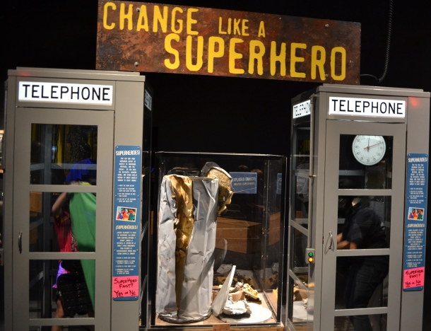 Superhero phone booths!