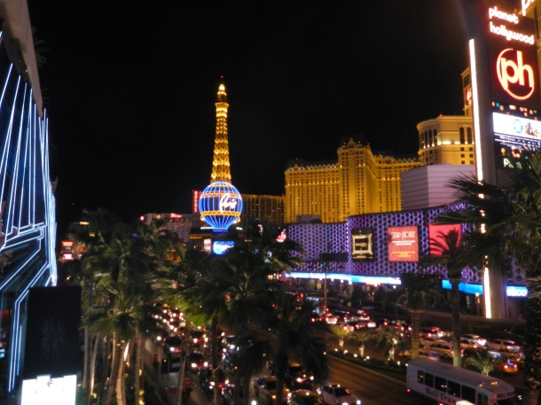 Paris and Planet Hollywood Las Vegas Strip Nevada