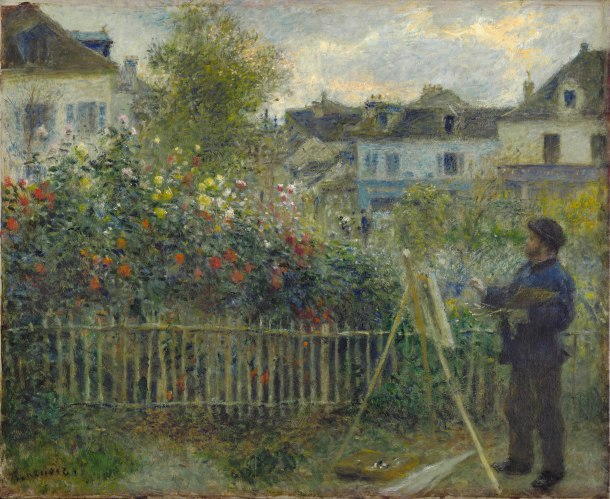 Renoir's Monet Painting in Garden at Argenteuil