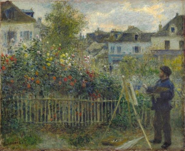 Renoir's Monet Painting in Garden at Argenteuil