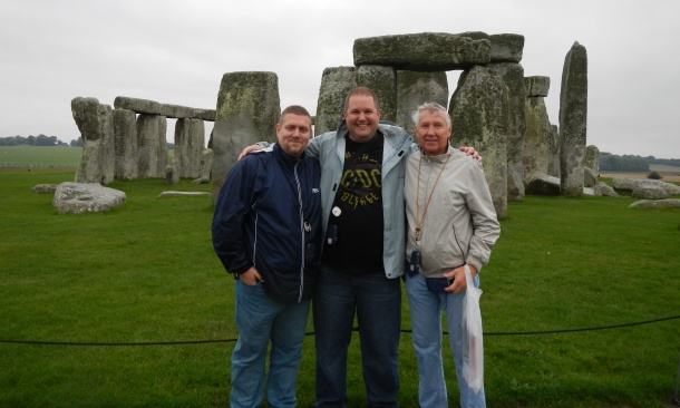 Hanging with dad and my friend Stephen at Stonehenge